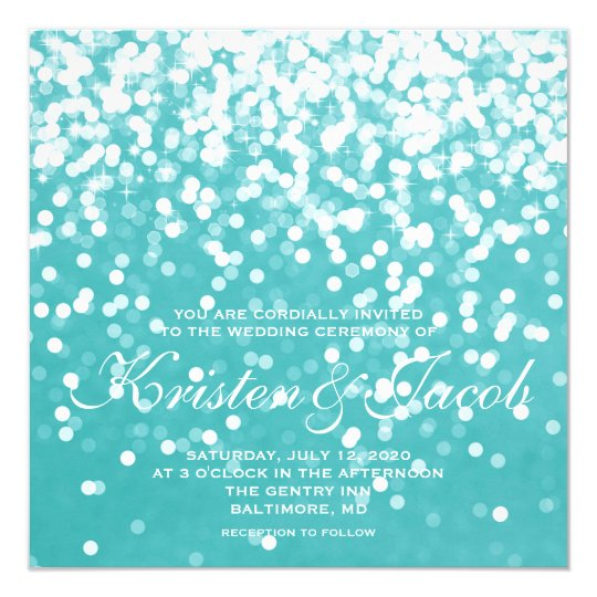 Invite - Sparkling Wedding Turquoise