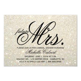 Invite - White Gold Glit Fab future Mrs.