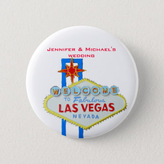 Invited Guest Name Tag Las Vegas Parties 2 Inch Round Button