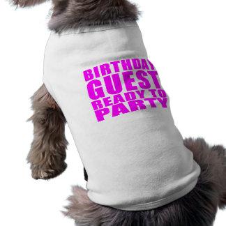 Invités Invité d anniversaire prêt à party T-shirt Pour Animal Domestique