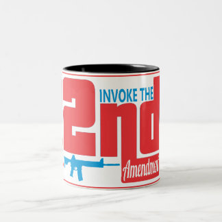 Invoke the 2nd, Black 11 oz Two-Tone Mug