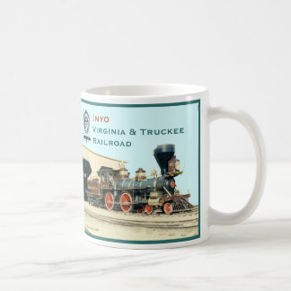 Inyo-Virginia and Truckee Railroad engine mug
