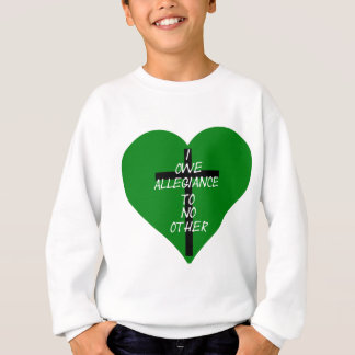 IOATNO Green Heart And Cross Sweatshirt