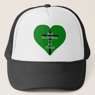 IOATNO Green Heart And Cross Trucker Hat