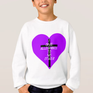 IOATNO Purple Heart and Cross Sweatshirt