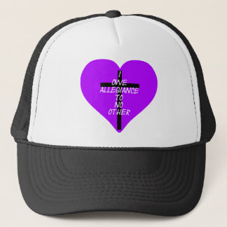 IOATNO Purple Heart and Cross Trucker Hat