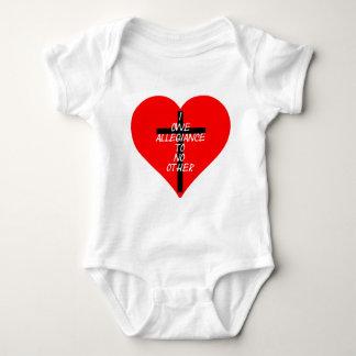 IOATNO Red Heart And Cross Baby Bodysuit