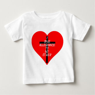 IOATNO Red Heart And Cross Baby T-Shirt