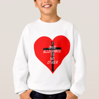 IOATNO Red Heart And Cross Sweatshirt