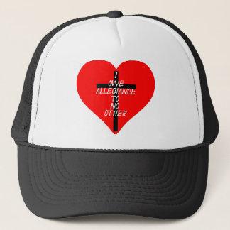 IOATNO Red Heart And Cross Trucker Hat