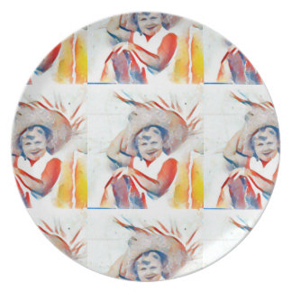 """Iodine"" Collection 1957 Melamine Plate"