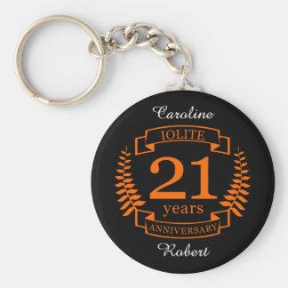 Iolite Gemstone wedding anniversary 21 years Keychain