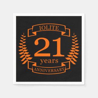 Iolite Gemstone wedding anniversary 21 years Paper Napkin