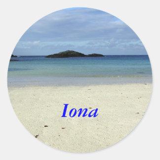 Iona Beach Classic Round Sticker