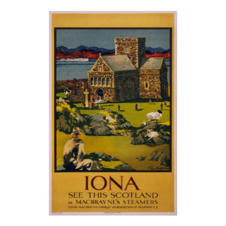Iona - See this Scotland - Vintage Travel Poster
