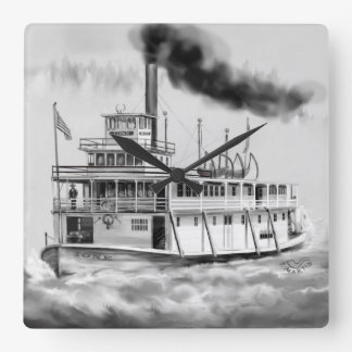 Ione Steam Boat the Hidden side Wallclock