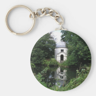 Ionic Temple, Chiswick House, Chiswick, London, UK Basic Round Button Keychain