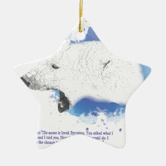Iorek, Armoured Bear from His Dark Materials Ceramic Ornament