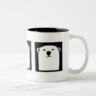 Iorek Triptych Two-Tone Coffee Mug