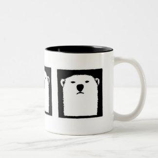 Iorek Triptych Two-Tone Coffee Mug