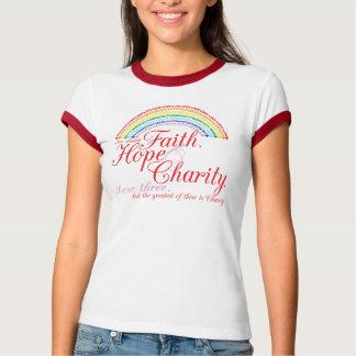 IORG Faith, Hope, Charity Ringer T-Shirt