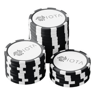 IOTA Clay Poker Chips Black and White Sides