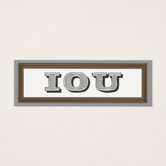 IOU Fill in the Blanks Gift Coupon Card