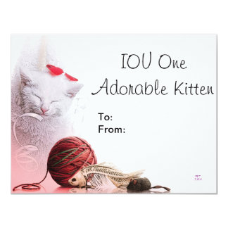 IOU One Adorable Kitten Card