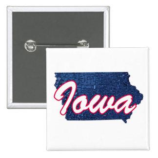 Iowa 2 Inch Square Button