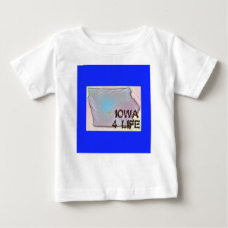 """Iowa 4 Life"" State Map Pride Design Baby T-Shirt"