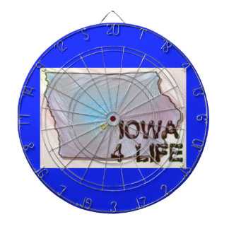 """Iowa 4 Life"" State Map Pride Design Dartboard With Darts"