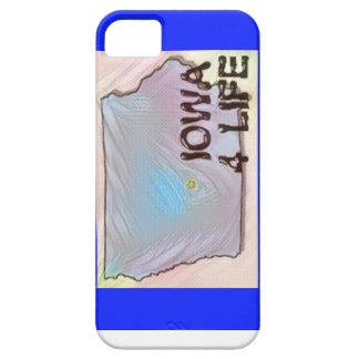 """Iowa 4 Life"" State Map Pride Design iPhone 5 Covers"