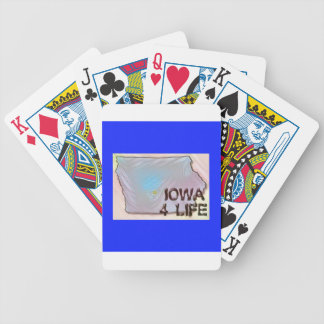 """Iowa 4 Life"" State Map Pride Design Poker Deck"
