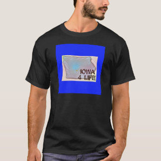 """Iowa 4 Life"" State Map Pride Design T-Shirt"