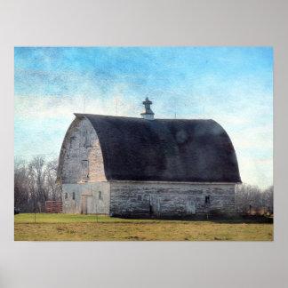 Iowa Barn Poster