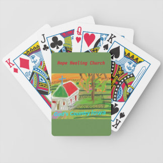 Iowa Christian Farm Church Scene Playing Cards