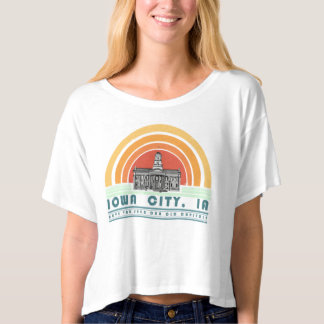 Iowa City - Have You Seen Our Old Cap (grn txt) T-shirt