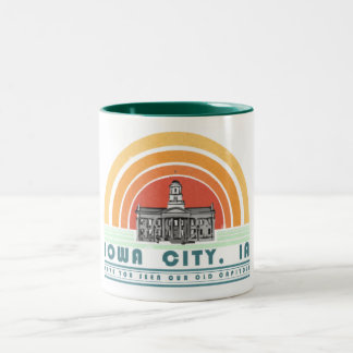 Iowa City - Have You Seen Our Old Cap? (grn txt) Two-Tone Coffee Mug