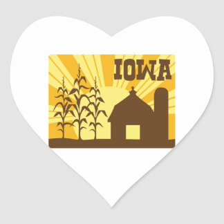 Iowa Corn Farm Heart Sticker