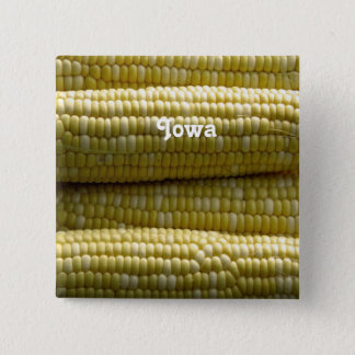 Iowa Corn on the Cob 2 Inch Square Button