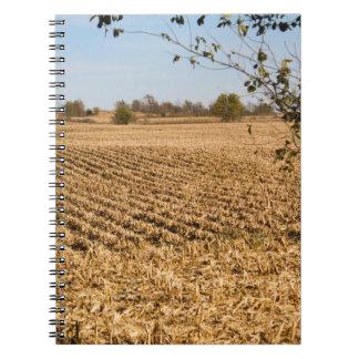 Iowa Cornfield Panorama Photo Notebook