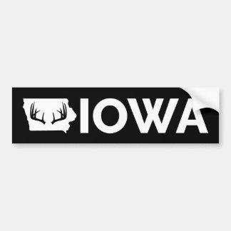 Iowa Deer Hunting Bumper Sticker