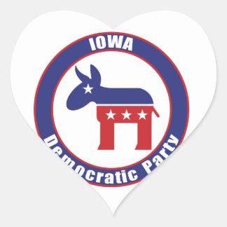 Iowa Democratic Party Heart Sticker