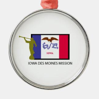 IOWA DES MOINES MISSION LDS CTR METAL ORNAMENT