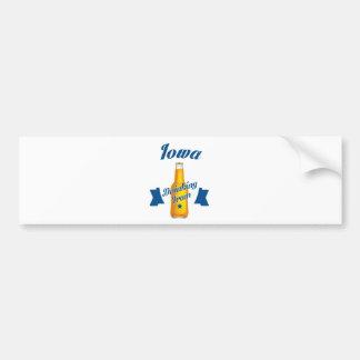Iowa Drinking team Bumper Sticker