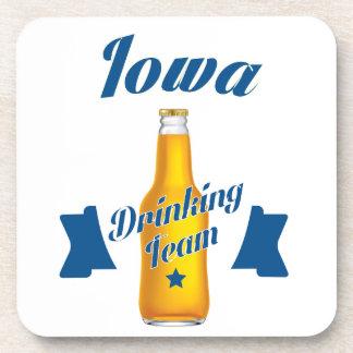 Iowa Drinking team Coaster