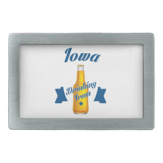 Iowa Drinking team Rectangular Belt Buckles