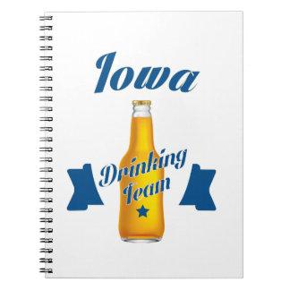 Iowa Drinking team Spiral Notebook