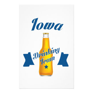 Iowa Drinking team Stationery