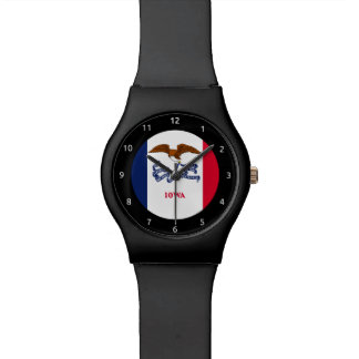 Iowa flag, American state flag Wristwatches
